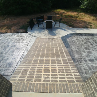 stamped concrete patio easley sc